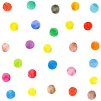 Wholesale Colorful Watercolor - 54 Pcs 7cm Watercolor Dots Wall Sticker Peel & Stick Rainbow Colorful Decals Removable Multi Color Decor DIY Polka Circles Art Decoration