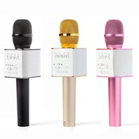 Wholesale Mini K - Q7 Microphone Handheld Mini Portable Wireless Bluetooth Karaoke Player Smartphone KTV Sing Record Music With Mic Speaker For Phone K Song