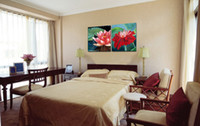 Impression Giclée Canvas Wall Art Water Lily Flower Décoration intérieure contemporaine Set20014