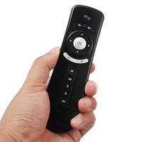 usb stick android tv box оптовых-Мини Fly Air Mouse T2 Клавиатура Мышь Android беспроводной пульт дистанционного управления 3D Sense Motion Stick для TV Box