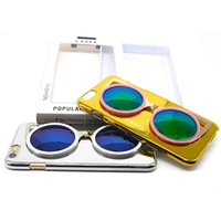 Wholesale Bling Glasses Case - Cool Bling 3D Glasses iphone Cases For Apple iphone 5 6 6 plus Hard Phone Cover Back Cases
