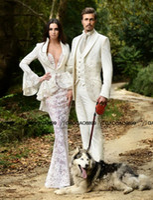vestidos victorian belle al por mayor-Rami Salamoun Vintage Gothic Prom Corset Vestidos Southern Belle Victorian Estilo árabe de manga larga Sirena Ocasión Vestido de noche
