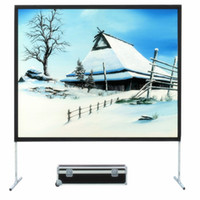 Wholesale Projection Fast Fold Screen - 16:10 Wide Screen Format Fast Fold Projector Projection Screen with Rear Projection Material and black velvet drape kits