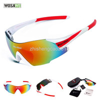 Wholesale WOSAWE UV400 Cycling Glasses Women s Men s Outdoor Sports Bike Bicycle Windproof Sunglasses Colors Lens with original box