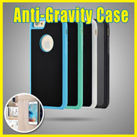 Wholesale Iphone5 Silicone Back Case Pc - Anti-Gravity Car Glass Selfie Magic Stick Suction Hard PC Back Case for Iphone5 6 6s 6p 01