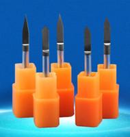 Wholesale Wholesale Router Bits - 5pcs lot black coating 30 40 45degree metal carving sharp V CNC wood cutter Flat Bottom Engraving Bits router bit