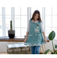 Wholesale lace vests for women - 2018New fashion korean lace apron vest type nursery governess teacher apron aprons for woman sleeveless cartoon doll aprons
