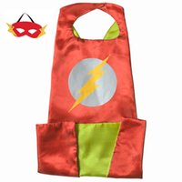 Wholesale 15 styles L110 cm Adults Superhero capes with Mask Satin Fabric Halloween Cosplay Costumes Capes And Masks Birthday Party Gifts