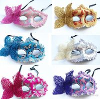 Wholesale Holloween Masks - 50Pcs Lot Exquisite Venice lace mask and butterfly makeup dance Princess mask Holloween Masks 2016 Style