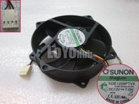 Wholesale SUNON KDE1209PTVX MS B2369 AF GN Server Round Fan V W wire Pin Magnetic
