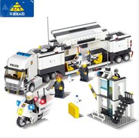 Wholesale Building Blocks Truck - Police Station Building Blocks 511pcs Bricks Educational Toys Model Building Kits Compatible with lego City Truck Car Kids Toys