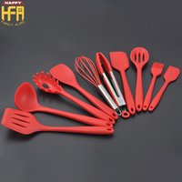 Wholesale Whisk Brush - Kitchen Accessories Silicon Kitchen Utensil Set Kitchenware Set Spatula Spoon Whisk Food Brush Cooking Baking Tools 10Pcs Set