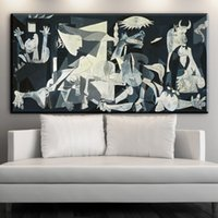 Wholesale Picasso Art Pictures - ZZ840 Spain France Picasso Classic Guernica 1937 Germany Figure Canvas Art Print Painting Poster, Wall Picture For Home wall art