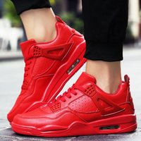 Wholesale Men S Height Increasing Shoes - Men Casual Shoes Breathable PU Leather Air Sport Basket Shoes Unisex Superstar Trainers Zapatillas Red Bottom Black Mens S