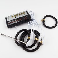 Wholesale Urethral Plug Female - Stainless Steel Penis Urethral Sounding Plug Electric Electro Shock Anal Plug Extender Enlargement Sex Toy For Electrode Gear