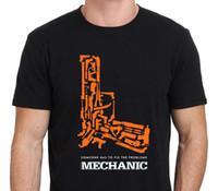 Wholesale Movie Poster Printing - The Mechanic, Jason Statham Movie Gun Poster T-Shirt Size:S-M-L-XL-XXL