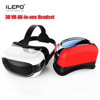 Wholesale Tvs Glasses Virtual - VR BOX RK3126 TV 3D Glasses Wifi Bluetooth 1080P 1G 8G Play virtual reality games 360°Andriod 5.1 all in one Android Video Glasses