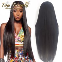 Wholesale Straight Human Wigs - 7A Unprocessed Virgin Brazilian Glueless Full Lace Human Hair Wigs With Baby Hair Lace Front Wigs For Black Women U Part Wigs