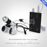 Wholesale Dental Magnification Loupes - 3.5X magnification metal frame medical near sighted dental loupes replaceable glasses surgical operation magnifier