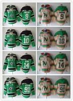 Wholesale Hooded Sweatshirt Black - Minnesota North Stars Hockey Men Jerseys 9 Mike Modano 91 Tyler Seguin 14 Jamie Benn Hoodies Hockey Hoodie Hooded Sweatshirt Jackets Jersey