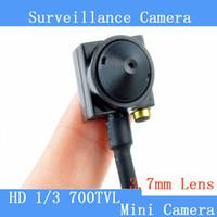 Wholesale Hidden Miniature Camera - Miniature surveillance camera Zone Hidden 3.7mm 5MP 700TVL Camera Audio Wired Camera Mini CCTV Security Surveilance Hidden pinhole Camera