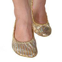 Wholesale Zebra Slippers - Wholesale-Women Girl Canvas Belly Dance Shoes Slipper Flat Ballet Gymnastics Dancing Shoes