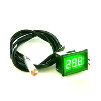 Wholesale Mini Digital Thermometer Green LED Waterproof Thermometer Temperature Meter DS18B20 Sensor m High Precision