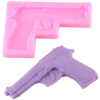 Wholesale Toy Cake Molds - 3D Baby Toys Gun Silicone Cake Mold Baking Fondat Chocolate Soap Molds Sugarcraft Cake Decorating Kitchen Accessories