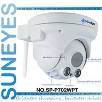 Wholesale Ip Dome Audio - Suneyes SP-P702WPT Wifi Wireless Pan Tilt Dome IP Camera ONVIF 720P HD TF Micro SD Card Slot Two Way Audio Array IR Night