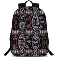 school girls figure NZ - Totem face backpack Wild ethnic figure daypack  National pattern schoolbag Leisure 5be050d4bc868