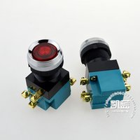 Wholesale Push Button Switch Yellow - LED Start Push Button Switches 25MM Hole Diameter 5A 380V 1NO 1NC Red Green Yellow Round Momentary Button 10PCS LA19-11D