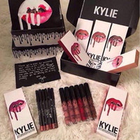 Wholesale SMLIE SPICE PUMPKIN TRICK MOON colors Kylie Jenner Lip Gloss GINGER KRISTEN Boujee Makeup Lips Long Lasting Lip Gloss lipstick Lip
