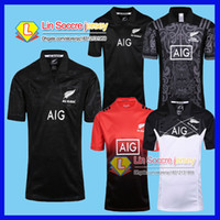 Wholesale Mens Shirt Green - New Zealand All Blacks Rugby Jersey Shirt 2015 2016 2017 Season Rugby Jersey New South Wales Blues State Shirt All Blacks Mens Rugby F