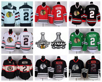 Wholesale skull flashing - Chicago Blackhawks 2 Duncan Keith Hockey Jerseys Sports Winter Classic Team Color Red White Green Black Skull Ice