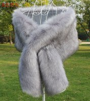 Wholesale Champagne Bridal Fur Shawl - 2018 Bridal Wraps Cheap Price Faux Fur Winter Wedding Wraps In Stock High Quality Colors Available Wedding Accessories Shawl Cheap