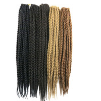 Wholesale Ombre Box - Kanekalon Synthetic 3X Box braiding hair 24inch 110g crochet braids twist hair extensions customized any color
