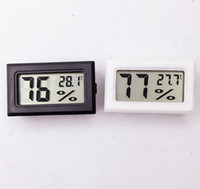 Wholesale Temperature Humidity Meter Hygrometer - Mini Digital LCD Hygrometer Temperature Humidity Meter Thermometer -50~70C 10%~99% RH Built-in probe