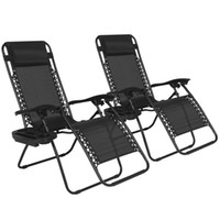 Wholesale outdoor modern - Zero Gravity Chairs Case O Black Lounge Patio Chairs Outdoor Yard Beach New