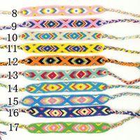 Wholesale Ethnic Braided Bracelet - Nepal national wind braided bracelets Ethnic cotton hand-woven bracelets Geneva Friendship Bracelets free shipping