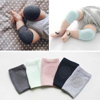 Wholesale Baby Knee Warmers - Baby soft Crawling Safety Kneecap Toddler Girls Boys combed cotton Protector with glue Knee Pads Infant Leg Warmer 4colors choose