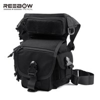 Wholesale Motorcycle Waist Bags - bag plate REEBOW TACTICAL Outdoor 1000D CORDURA Waist Leg Bags Pack Multifunctional SWAT Sport Motorcycle Riding Pouch Drop Leg Bag