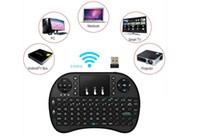 3 m'lik pedler toptan satış-DHL Rii I8 Ile Kablosuz Klavye Touchpad 2.4g Fly Hava Fare Combo Teclado Için Hdpc Win7 Pad Için Xbox360 Için Ps3 Için Andriod