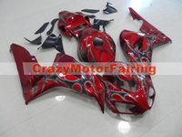 Wholesale Cbr Fairings For Sale - 3 Gifts+Cowl+Tank cover New ABS Injection Fairings set For HONDA CBR1000RR 2006 2007 CBR 1000 RR 06 07 hot sales Red gray