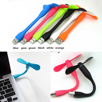 Wholesale powerbank for laptops for sale - Group buy Mini Cute Portable Flexible USB Fan Bendable removable USB Gadgets Low power for Powerbank for PC for laptop