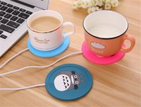 Wholesale Hot Cup Usb - Cup Mug Pad Warmer Heater Cartoon 5V USB Silicone Heater for Milk Tea Coffee Mug Hot Drinks Beverage Cup Mat Pad best gift