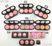 Wholesale Face Rouge - Free Shipping ePacket! New Professional Brand Makeup Face Blush 3 Color Flower Gold Rouge Blush Natural Powder Blush 16g