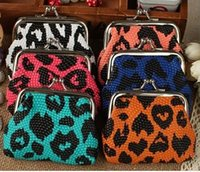 Wholesale Zebra Design Bags - Many design leopard crocodile Zebra rose embroidered catoon Lady bags Coin purse Coin bags Money bags Wallet hasp Key holders free shipping
