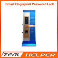 Wholesale Electronic Door Locks Key - Wholesale- Electronic Door Lock Smart Fingerprint, Code, Card, Key Touch Screen Digital Keypad Password Door Locks