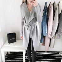 Wholesale Women Winter Sweater Outerwear - 2017102947 Sash elastic cardigan winter sweater women jumper Knitted cardigan female coat Soft casual sweater pull outerwear