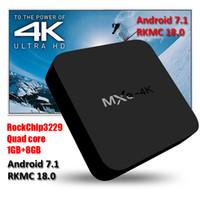 Wholesale Quad Movies - Android 7.1 TV Box MXQ 4K RK3229 Smart TV Box KD Fully Loaded RKMC 18.0 H.265 4K 1080P HD free movies